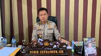 Kabid Humas Polda Sulteng, Kombes Pol Didik Supranoto, saat memberi keterangan kepada jurnalis, Rabu (15/4/2020). (Foto: Humas Polda Sulteng).