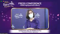 "Psikolog Saskhya Aulia Putri dalam konferensi pers ""Ungkapan Hati Cadbury"" Rabu, 27 Januari 2021 (Liputan6.com/Komarudin)"