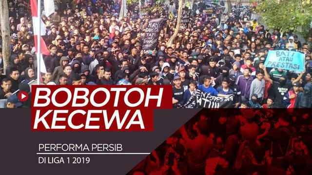 Berita video ratusan Bobotoh menyampaikan kekecewaan yang ditujukan kepada manajemen Persib Bandung, Sabtu (10/8/2019).