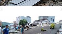 Viral, 10 Potret Kerusakan Terjadi Akibat Gempa di Majene. Sumber: Instagram/makassar_iinfo.