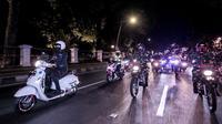 Wali Kota Bogor bima Arya Sugiarto patroli keramaian saat malam pergantian tahun 2020. (Liputan6.com/Achmad Sudarno)