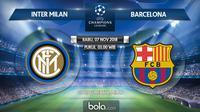 Jadwal Liga Champions 2018-2019, Inter Milan vs Barcelona. (Bola.com/Dody Iryawan)
