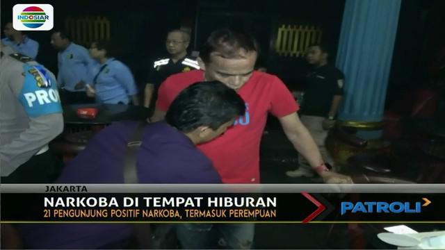 Sebanyak 21 pengunjung termasuk di antaranya wanita dinyatakan positif narkoba. Mereka yang terjaring langsung dibawa ke kantor BNN.