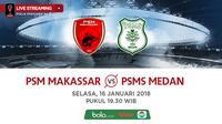 Jadwal Piala Presiden 2018, PSM Makassar Vs PSMS Medan. (Bola.com/Dody Iryawan)