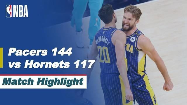 Berita video highlights laga Play-in NBA 2020/2021 antara Indiana Pacers melawan Charlotte Hornets yang berakhir dengan skor 144-117, Rabu (19/5/2021) pagi hari WIB.