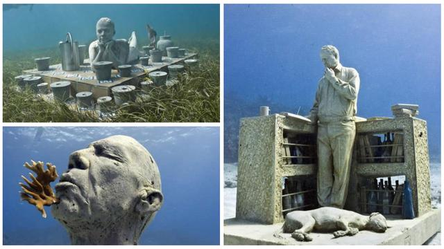 Keindahan 400 Patung Di Bawah Air Global Liputan6com
