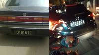 6 Tulisan Pelat Nomor D di Mobil Ini Bikin Pengemudi Lain Tepuk Jidat (sumber: 1cak dan Twitter/romaanpicisan)