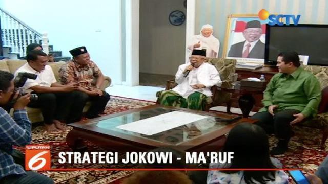 Kunjungi Ma'ruf Amin, Erick Thohir bahtah isu keretakan Tim Kampanye Nasional Jokowi-Ma'ruf.
