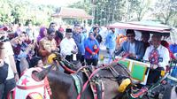 Kereta delman menjadi salah satu angkutan wisata alternatif di Taman Kambang Iwak Palembang (Dok. Humas Pemkot Palembang / Nefri Inge)