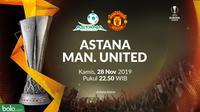 Liga Europa - Astana Vs Manchester United (Bola.com/Adreanus Titus)