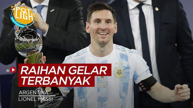 Berita video sportlight kali ini membahas tentang empat pemain asal Argentina dengan raihan trofi terbanyak.