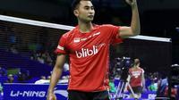 Tommy Sugiarto menjadi andalan tim Thomas Indonesia untuk menghadapi Hong Kong pada perempat final Piala Thomas di Kunshan, Tiongkok, Kamis (19/5/2016). (Liputan6.com/Humas PB PBSI)