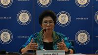 Ketua MWA ITB Yani Panigoro mengumumkan 30 nomine calon rektor ITB periode 2020-2025. (Liputan6.com/Huyogo Simbolon)