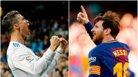 Berikut ini top scorer sementara La Liga musim 2017/2018 hingga pekan ke-29. Lionel Messi masih teratas dengan torehan 25 gol dibayangi Cristiano Ronaldo dengan 22 gol. (Kolase foto-foto AP dan AFP)