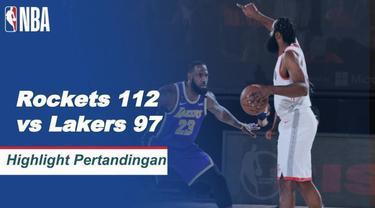 Berita video highlights gim pertamasemifinal wilayah barat NBA 2019/2020 antara Houston Rockets melawan Los Angeles Lakers yang berakhir dengan 112-97, di mana James Harden menjadi bintang pertandingan dengan torehan 36 poin, Sabtu (5/9/2020) pagi ha...