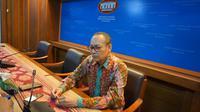 Press Briefing oleh Kementerian Luar Negeri dihadiri oleh Teuku Faizasyah, PLT Jubir Kemlu dan Jose Antonio Morato Tavares, Direktorat Jenderal Kerja Sama ASEAN. (Liputan6/ Benedikta Miranti T.V)