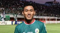 Salah satu benteng kokoh PSS Sleman, Asyraq Gufron, patut dipertahankan Super Elang Jawa musim depan. (Bola.com/Vincentius Atmaja)