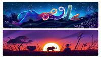 Memperingati Hari Bumi yang jatuh pada hari ini, Jumat (22/4/2016), Google menghadirkan serangkaian doodle khusus Earth Day.