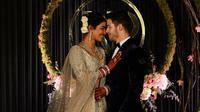 Resepsi pernikahan Priyanka Chopra dan Nick Jonas di New Delhi, India, 4 Desember 2018. (SAJJAD HUSSAIN / AFP/Asnida Riani)