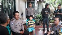 Bocah Onel Selamat dari Tsunami Selat Sunda (Liputan6.com/Abramena)