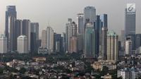 Pemandangan gedung bertingkat di Jakarta, Selasa (30/4/2019). Presiden Joko Widodo atau Jokowi mengatakan, pemerintah saat ini masih terus mengkaji wilayah yang layak untuk menjadi ibu kota baru pengganti Jakarta. (Liputan6.com/JohanTallo)