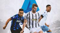 Serie A - Lautaro Martinez, Matthijs de Ligt, Sergej Milinkovic-Savic (Bola.com/Adreanus Titus)