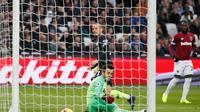 Gelandang Manchester City, David Silva kala membobol gawang West Ham United (Foto: Doc Premier League)