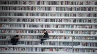 Ilustrasi Perpustakaan (AFP Photo)