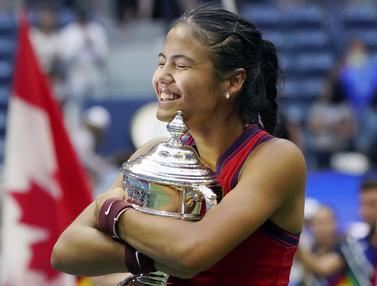 Foto: Mengenal Emma Raducanu, Petenis Muda Fenomenal Peraih Juara US Open 2021