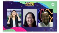 Peluncuran Chatbot WhatsApp Cek Fakta Liputan6.com oleh Pemred Liputan6.com Irna Gustiawati dan Chief Content Officer KapanLagi Youniverse Wenseslaus Manggut.