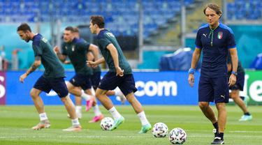 FOTO: Italia Siap Hadapi Turki di Laga Pembuka Euro 2020