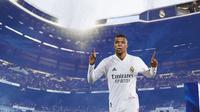 Real Madrid - Ilustrasi Kylian Mbappe (Bola.com/Adreanus Titus)