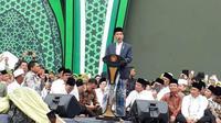 Presiden Jokowi menghadiri acara Harlah ke-73 Muslimat NU di GBK, Jakarta. (nu.or.id)