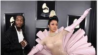 Cardi B di karpet merah Grammy Awards 2019. (dok.Instagram @popsugar/https://www.instagram.com/p/BtuR7Y1lm9P/Henry