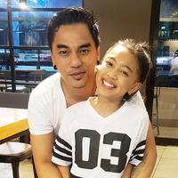 Enda Ungu dan sang putri, Zara Leola. (Instagram/mr_enda_ungu)