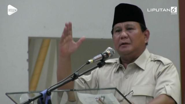 Prabowo Subianto dalam pidatonya di Yogyakarta menyebut elit di Jakarta Rai Gedhek (bermuka tebal).