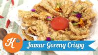 Coba snack seru, jamur goreng crispy yang sehat dan renyah untuk keluarga. (Foto: Kokiku Tv)