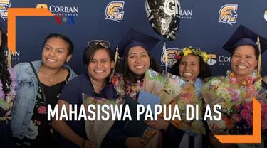 Mahasiswa papua yang mendapatkan beasiswa otonomi khusus, mendapatkan predikat lulus Cum Laude dari Universitas Corban, Oregon.