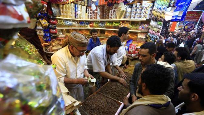 Idul Fitri di Yaman (AFP PHOTO)