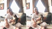 7 potret kedekatan ayah dan kucing (Sumber: Twitter/aliamelorr)
