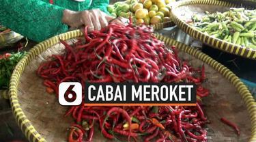 Sepekan jelang natal, harga cabai di sejumlah pasar tradisional di Kota Tegal, Jawa Tengah, naik hingga seratus persen.