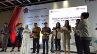 Pemerintah menerbitkan Surat Berharga Negara (SBR) ritel seri 003 dengan sistem online di Ciputra Artpreneur, Kuningan, Jakarta, Senin (14/5/2018). (Yayu Agustini Rahayu/Merdeka.com)