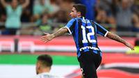 Stefano Sensi merayakan gol Inter Milan ke gawang Udinese. (AFP/Miguel Medina)