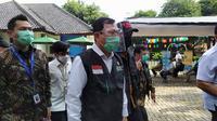 Menteri Kesehatan Terawan Agus Putranto saat meninjau simulasi pemberian vaksin di Puskesmas Tanah Sareal Kota Bogor, Jawa Barat, Rabu (18/11/2020). (Liputan6.com/Achmad Sudarno)