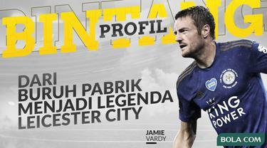 Berita Video profil bintang striker terbaik Leicester City dan Liga Inggris, Jamie Vardy