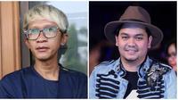 Indra Bekti dan Aming parodikan adegan film Dilan 1990. (Nurwahyunan/Bintang.com)