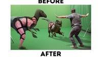 film Hollywood sebelum dan sesudah editing (foto: Brightside)