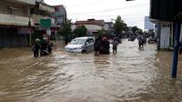 Banjir di Cilacap semakin meluas, mencakup 31 desa di 10 kecamatan. (Foto: Liputan6.com/Muhamad Ridlo)