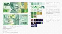 Uang rupiah baru pecahan Rp 20 ribu kertas. (Foto: BI)