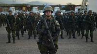 Sebuah kontingen kecil Brasil akan tetap berada di Haiti hingga pasukan PBB ditarik dari negara tersebut pada Oktober 2017. (AFP)